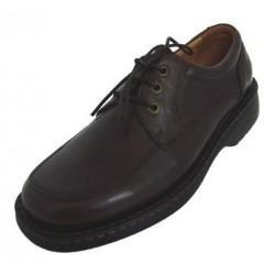 Zapato en piel casa Ley Land con cierre de cordón.Ref:10100