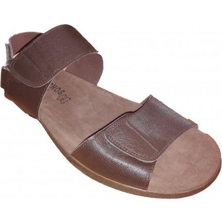 Sandalia de hombre en piel de la marca Galocho. Ref:2486