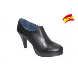 Zapato en piel abotinado con tacón alto y plataforma casa Jogar. Ref.3973