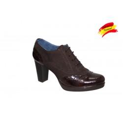 Zapato abotinado bluncher