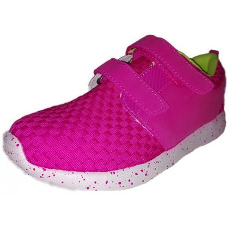 Deportivas rosas para niña con Velcro