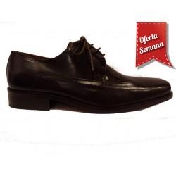 Zapato de piel para hombe con cierre cordón Tolino.Ref:8035N