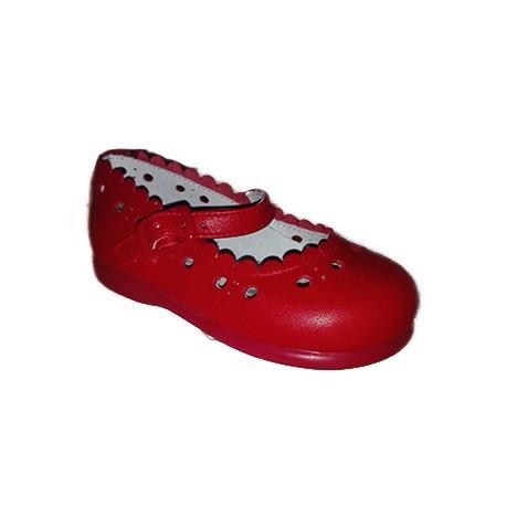 Mercedita de roly poly para niña en rojo