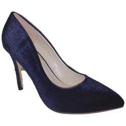 Zapato con tacón de aguja en terciopelo