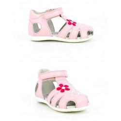Sandalia niña GOLOSINAS en piel de color rosa