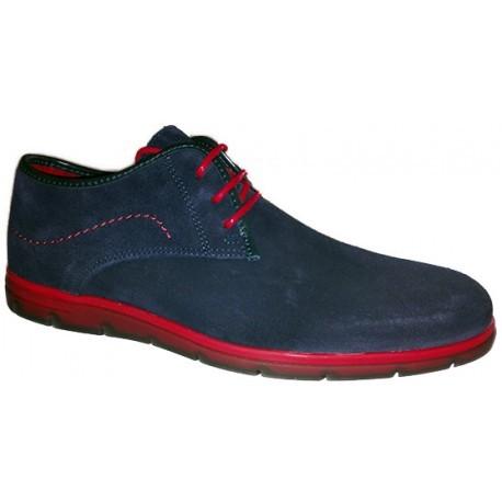 Zapato para hombre de vestir en azul marino y rojo