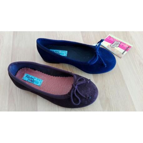 Manoletina para niña en serraje de la casa Rachel Shoes ref:S-4559