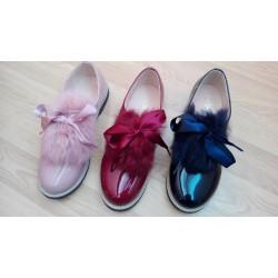 Zapato para niña tipo oxford en charol.Ref: A2171-L