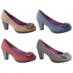 Zapato de tacón burdeos de la casa Lolablue Ref:33D626