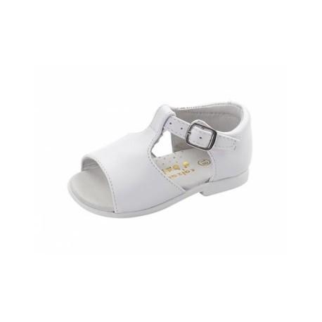 c87d3ec91e0 sandalia blanca en piel para niño de la casa Dbebe modelo 4021 ...