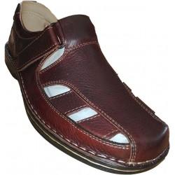 Sandalia de hombre en piel de la marca Valdegama. Ref: