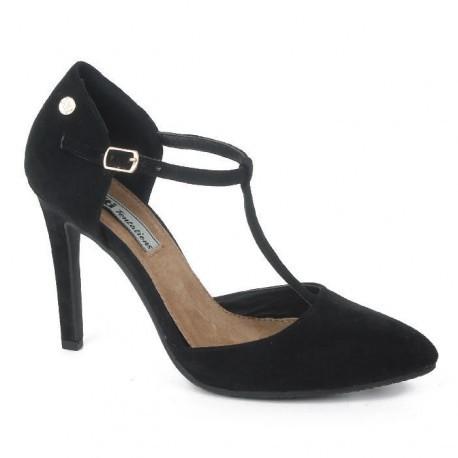 Zapato de mujer en serraje color negro