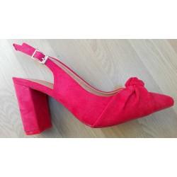 Zapato de mujer con tacón en rojo. Ref: SD-KXB1409.