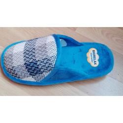 Zapatilla de casa en crudo para mujer con tejido de invierno de la casa Biorelax ref:4590
