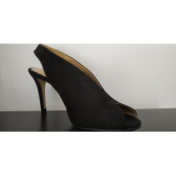 Sandalia de tacón señora en ante. Ref: 1594