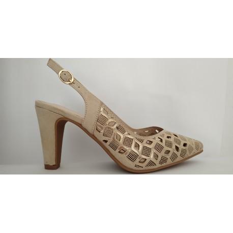 Zapato tacón de vestir de la marca Prestigio. Ref: C-213