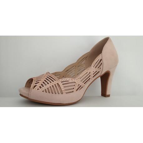Zapato tacón de vestir dela marca Prestigio. Ref: C-233