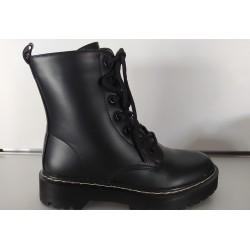 Botín militar negro. Ref: HX-71