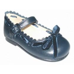 Zapato azul marino para niña en piel de la casa Roly Poly ref:119