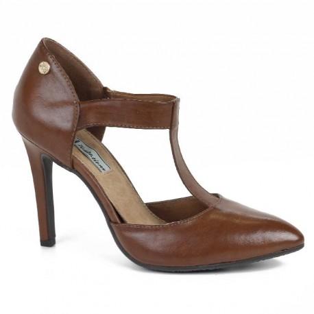 Zapato de Tacón Marrón de la Casa XTi Ref:29927